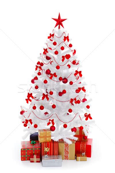 white tree with presents and decoration stock photo 169 jozsef szasz fabian