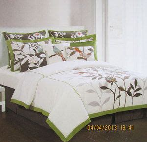 hillcrest paradise floral bird king comforter set of 6