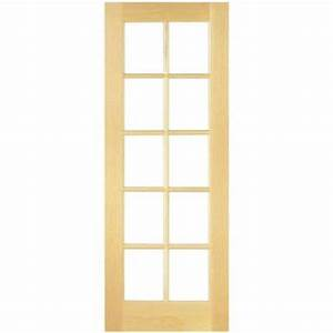 masonite 30 in x 80 in smooth 10 lite french solid core With home depot interior french door