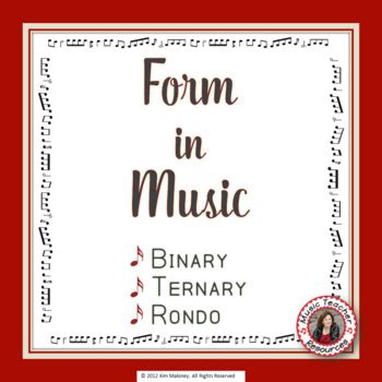 music form form in music binary ternary and rondo by