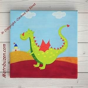 Tableau Chambre Enfant : tableau enfant b b dragon d co murale chambre enfant th me des dragons ~ Teatrodelosmanantiales.com Idées de Décoration
