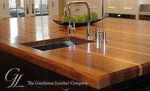 Custom Walnut Wood Countertop in Boston, Massachusetts