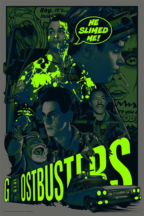 ghostbusters posters    anniversary art