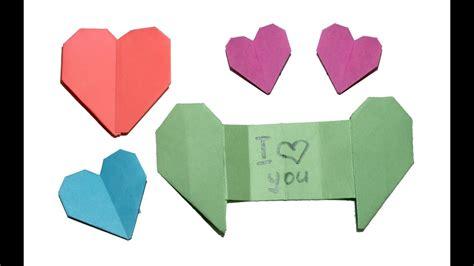 origami heart  secret message diy beauty  easy