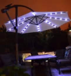 rectangular patio umbrella with solar lights kbdphoto