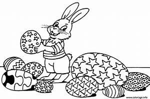 Oeuf Paques Dessin : coloriage lapin paques oeufs ~ Melissatoandfro.com Idées de Décoration
