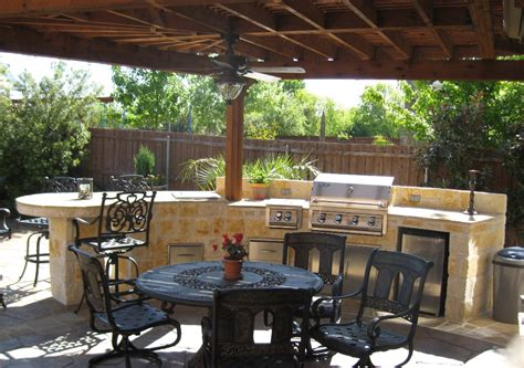 backyard kitchen design ideas outdoor kitchens by premier deck and patios san antonio tx