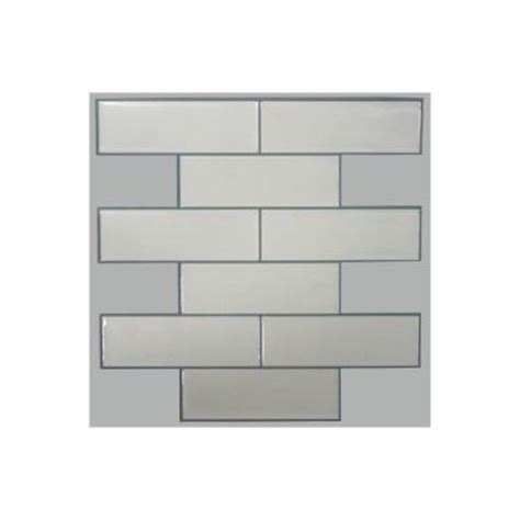 sticktiles 10 5 in w x 10 5 in h classic subway peel and