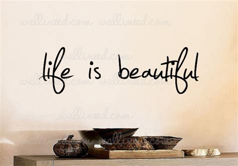 is beautiful wall decal sticker quote