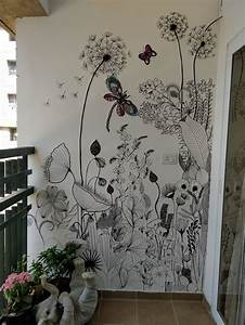 Wild, Flowers, Removable, Wallpaper