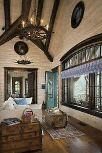 Flat interior log walls with white washed finish and dark for Interior paint colors for rustic homes