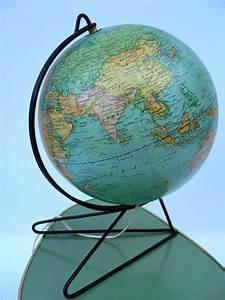 Lampe Globe Terrestre : lampe globe terrestre en verre sur pied m tal design vintage 50 catawiki ~ Teatrodelosmanantiales.com Idées de Décoration