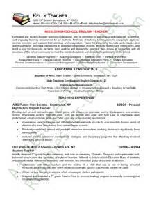 resume exles for high teachers teacher resume english teacher resume sle teacher resumes pinterest
