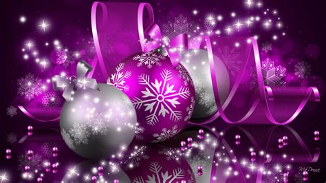 merry christmas purple decorations  wallpaper
