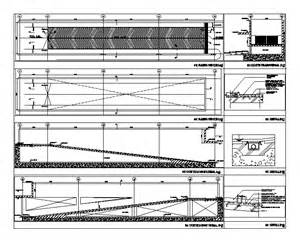 Basement Parking Section by Detail Vehicular Ramp In Autocad Drawing Bibliocad