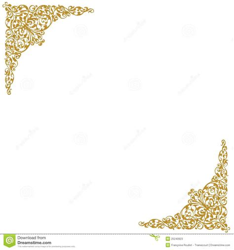 wedding photographers prices gold decorative corners stock photos image 25240923