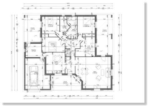 plan maison plain pied gratuit plan architecte maison gratuit 1 projets 224 essayer