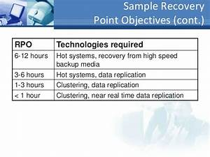 business continuity disaster recovery planning bcp drp With recovery point objective template