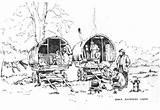 Gypsy Caravan Wagon Drawings Rosemary Horse Lodge Diana Romany Coloring Sketch Caravans Paintings Horses Template Larger Credit Google sketch template