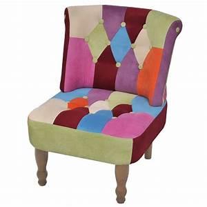 fauteuil patchwork fauteuil de salon multicolore With fauteuil couleur design