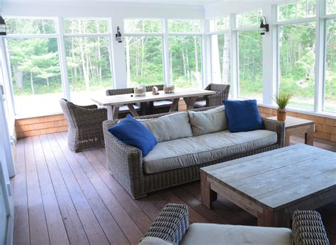 cape  large screened  porch ipe wood decking