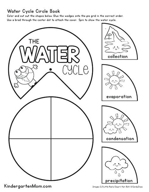 water cycle worksheets for kindergarten 692 | free printable water cycle worksheets for kindergarten kids create this circle book