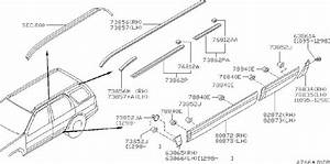 Nissan Pathfinder Roof Molding  Right   Rack  Rail  Fed