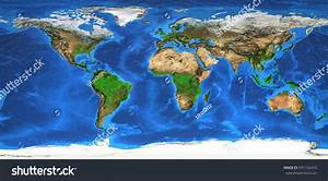 Detailed Satellite View Earth Landforms Global Stock ...