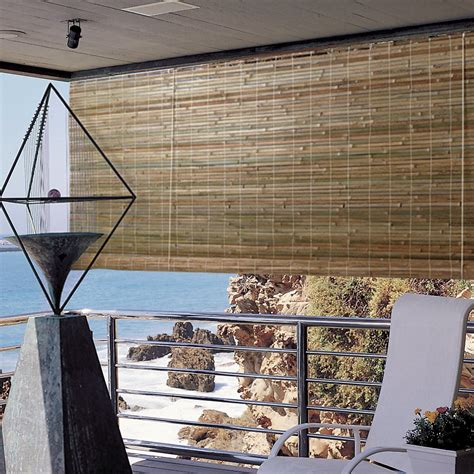 Bamboo Roller Blinds by Radiance Laguna Outdoor Bamboo Rayon Roller Blind