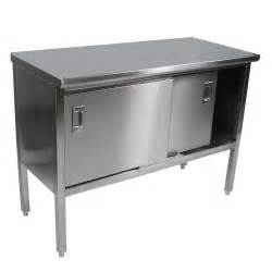 Stainless Steel Restaurant Kitchen Cabinets by Nsf Stainless Steel Table Enclosed Base Cabinets