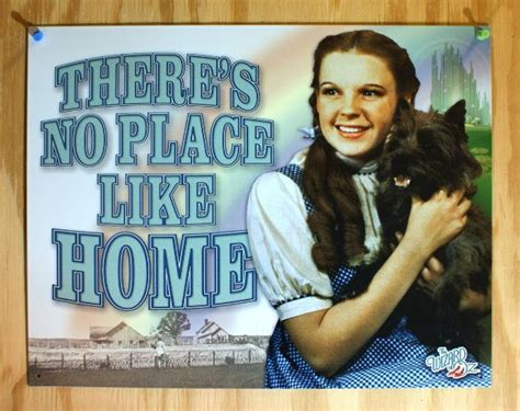 wizard  oz  place  home tin sign  poster