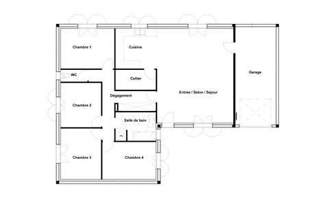 plan maison 100m2 4 chambres plan maison 4 chambres des idées novatrices sur la