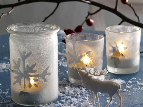 windlicht glas basteln winterliche windlichter selber machen