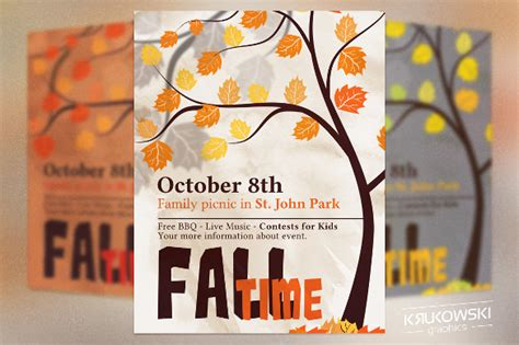 picnic flyer templates  ms word psd