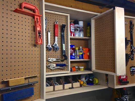project lady pegboard tool storage cabinet project