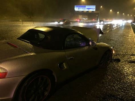 Smash On M6 Leaves Car Crumpled As Driver Nicked For No