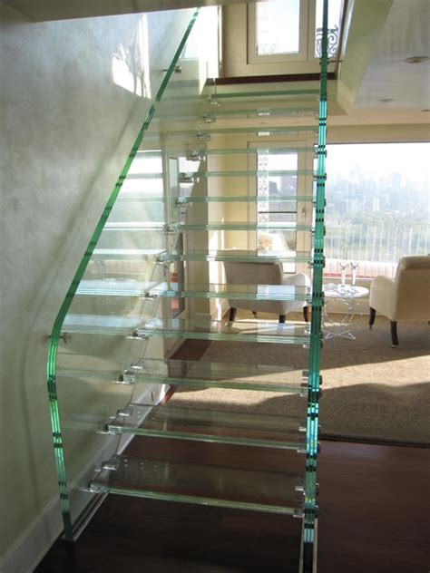 full glass stair modern staircase edmonton
