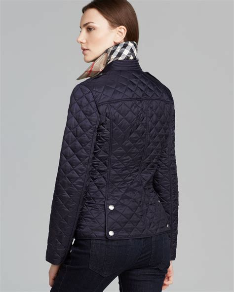 s burberry quilted jacket burberry brit kencott quilted jacket in blue lyst