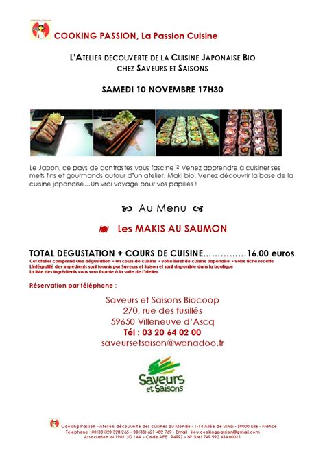 apprendre la cuisine japonaise novembre 2012 lilou cooking