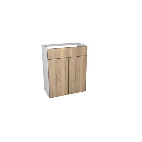 wickes vienna oak fitted vanity unit 600 mm wickes co uk