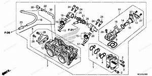 Honda Motorcycle 2014 Oem Parts Diagram For Throttle Body