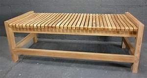 Banc Pour Salle De Bain : bancs la maison du teck meuble et d co en teck ~ Dailycaller-alerts.com Idées de Décoration