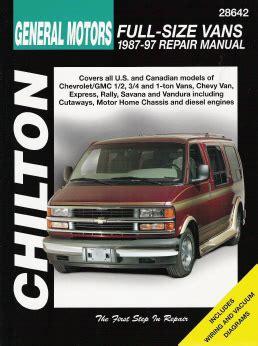 motor repair manual 1987 pontiac gemini instrument cluster 1987 1997 chevrolet gmc 1 2 3 4 1 ton vans chilton s total car care manual