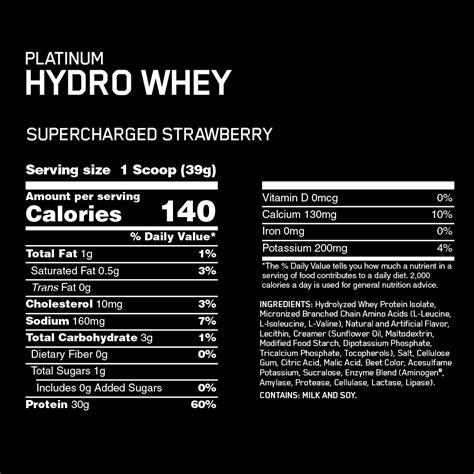 Platinum Hydrowhey   Optimum Nutrition