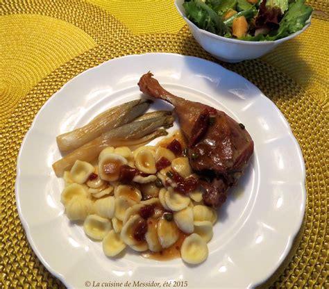 trois pi鐵es cuisine la cuisine de messidor cuisses de canard braisées saveurs provençales