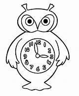 Coloring Clock Savings Daylight Owl Alarm sketch template