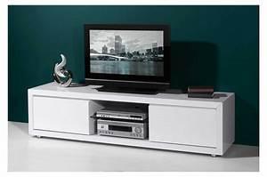 Tv 120 Cm : meuble tv 120 cm blanc meuble tv 100 objets decoration maison ~ Teatrodelosmanantiales.com Idées de Décoration