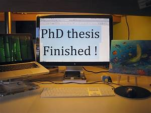 I finished my thesis