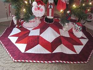 You have to see Star Christmas Tree Skirt by Ann Petersen!
