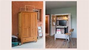Comment Transformer Une Armoire Ancienne : transformer une armoire en secr taire ~ Melissatoandfro.com Idées de Décoration